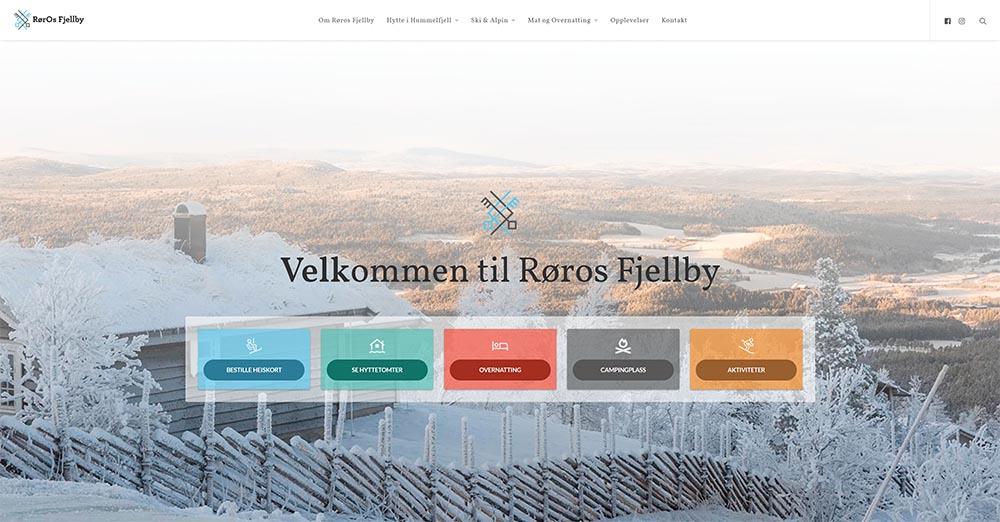 Røros Fjellby webdesign