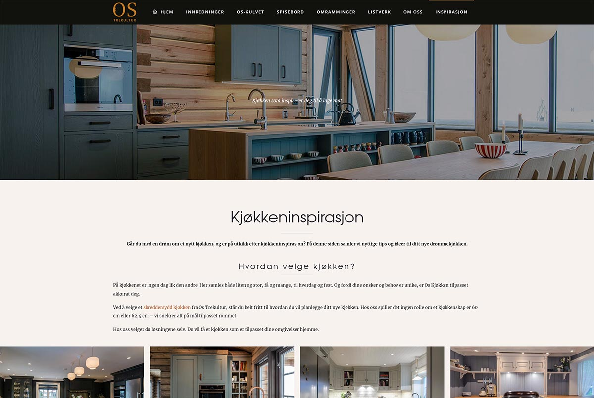 Kjøkkeninspirasjon Os Trekultur