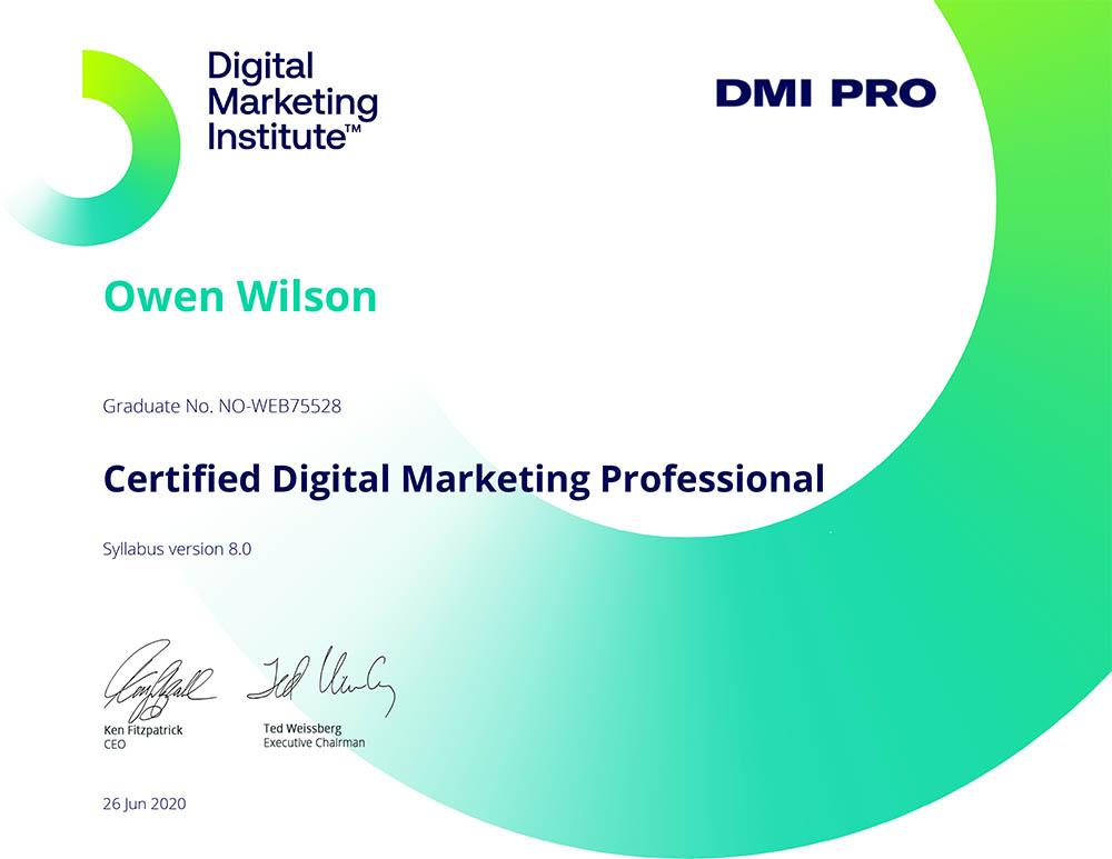 Sertifisert digital markedsfører